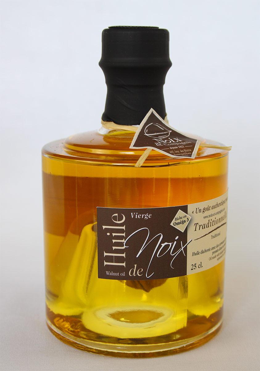 Bouteille huile de noix traditionnelle 25 cl
