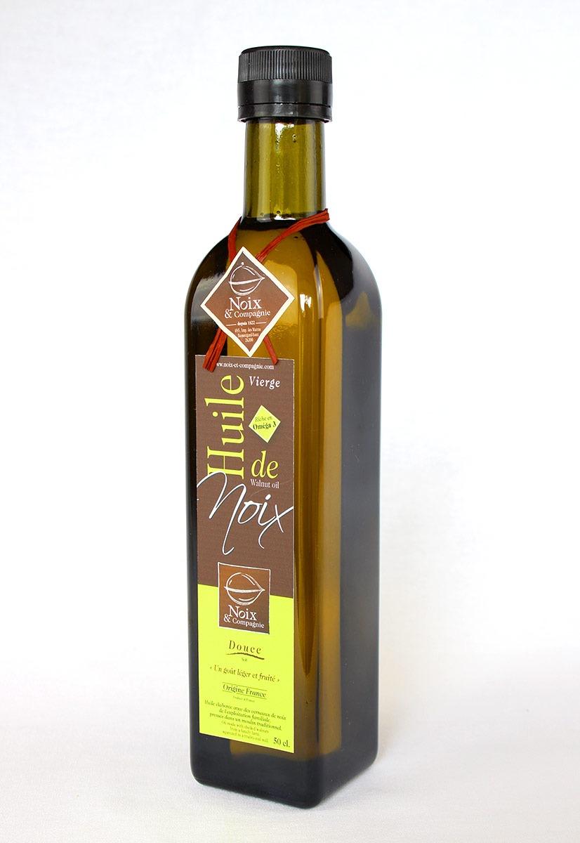 Bouteille huile de noix douce 50 cl