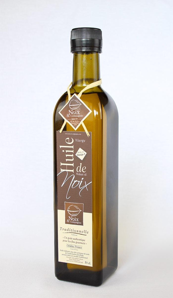 Bouteille huile de noix traditionnelle 50 cl