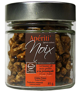Cernaux de noix grillés à la Provençale pour l'apéritif