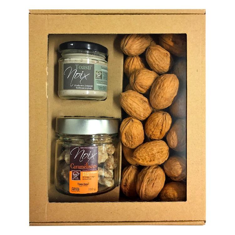 Coffret cadeau noix sucrées salées de Grenoble