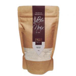 Farine blé et noix 500g kraft