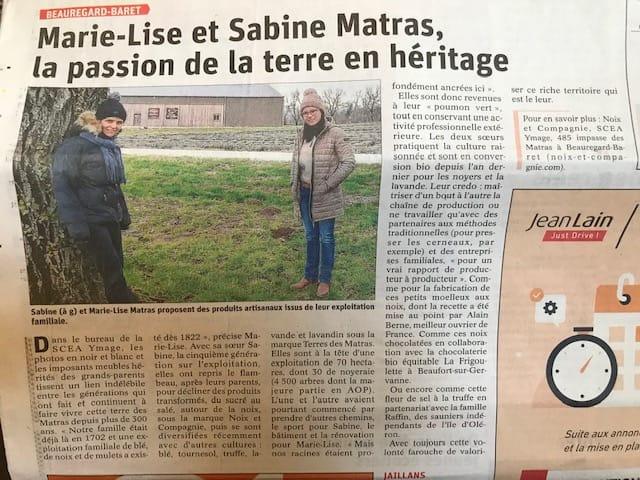 Marie-Lise et Sabine Matras, la passion de la terre en héritage